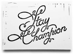 Typeverything.com - Stay Champion linocut by @Ryan Katrina
