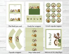 Safari Friends Jungle Animal Baby Shower by LittlePrintsParties