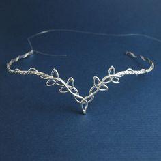Celtic Wedding Bridal Circlet Headpiece in Sterling door Camias, $169,95