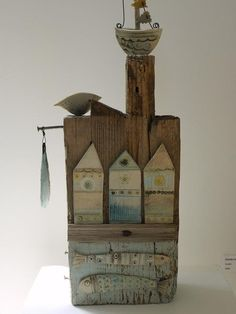 Shirley Vauvelle  Mixed Media Artist  Sculpture  Ceramic and Driftwood