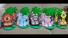 Centros de Mesa Safari para Festa Infantil Idéias - YouTube