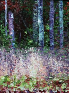 """Moss Covered Treed 24"""" x 18"""" Oil on Canvas"""
