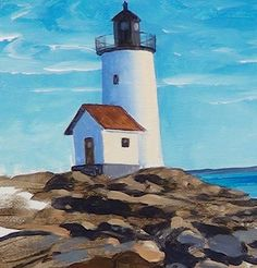 Learn how to paint this lovely lighthouse with John Cox as part of our Acrylics Academy coming soon to ArtTutor.