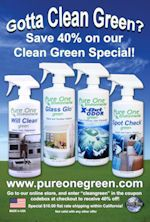 Go green! ... Even with your cleaning products