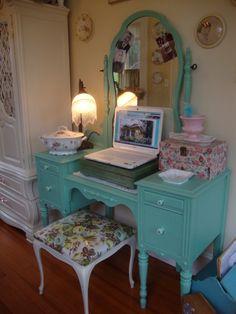 Gorgeous Vintage Vanity via AVintageGirl on Rate My Space - HGTV