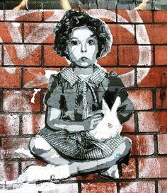 Schanzenviertel, Hamburg: Shirley Temple stencil by artist TOE aka Through other eyes Graffiti, Street Art, Dark Places, Rue, Beautiful World, Art Pictures, Temple, Stencils, Disney Characters