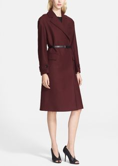 Love this Burberry belted wool blend coat.  The slender belt creates a beautifully polished look.