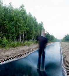 I MUST go here before I die...OR, build one in America..Trampoline Pathway in Nikola-Lenivets, Russia