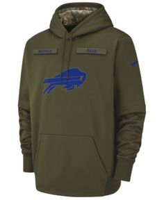 97dba50a5 Nike Men s Buffalo Bills Salute To Service Therma Hoodie - Green S