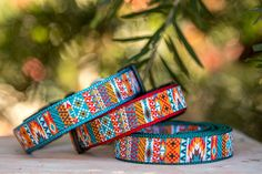 Aztec / Mexican Dog Collar, Geometric Dog Collar