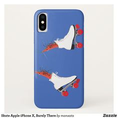 Skate Apple iPhone X Barely There iPhone X Case Custom Brandable USA Electronics Gifts Cool Phone Cases, Iphone Cases, White Roller Skates, Electronic Gifts, Surreal Art, Plastic Case, Colorful Backgrounds, Apple Iphone, Art Drawings