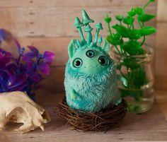 "art toy ""Mushroom dude"" ooak doll fantasy creature"
