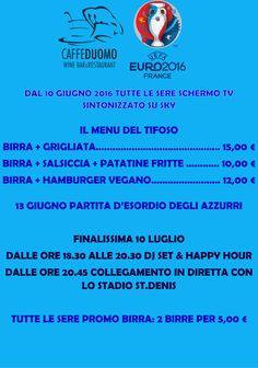 Da domani potrete deliziarvi con il nostro Menu Europei 2016! Noi vogliamo far goal nei vostri palati #Europei2016   #carpi #menu #calcio