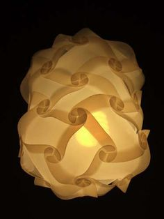 lampshade from 35 pieces