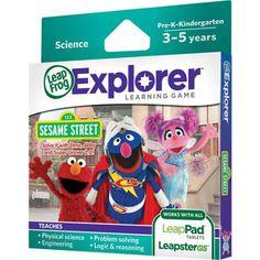 LeapFrog Explorer Learning Game: Sesame Street: Solve it with Elmo, Abby & Super Grover 2.0 - Walmart.com