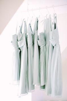 pale blue bridesmaids dresses   Photography: Love And Light Photographs - loveandlightphotographs.com
