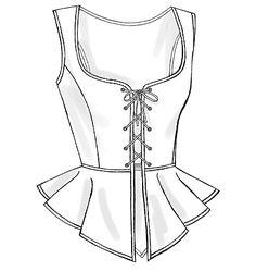 renaissance bodice patterns   Butterick 4669 Women Renaissance Corset Costume Pattern Sz 14 16 18 20 ...