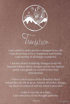 Transition Affirmation