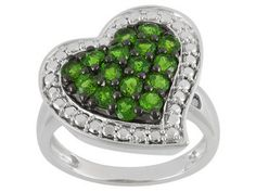 Look what I found on @eBay! http://r.ebay.com/gyZA8D 1.35ctw Russian Chrome Diopside Heart Shaped Ring Size 8