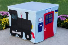Train Station Card Table Playhouse