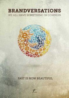 ライバル会社のロゴで形成したポスター「Mind-Bending Brand Logos」