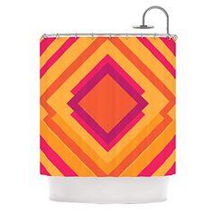 "Kess InHouse Belinda Gillies ""Diamond Dayze"" Orange Pink Shower Curtain, 69 by 70-Inch Kess InHouse http://www.amazon.com/dp/B00NMBDISA/ref=cm_sw_r_pi_dp_-IQrub11FYBM7"