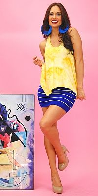 Love the vibrant blue :::: Fun and Trendy Outfit