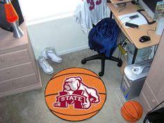 """Mississippi State Basketball Mat 27"""" diameter"""