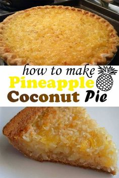 Pineapple Coconut Pie I assure you with this recipe, you shall achieve a tropical dish of pineapple coconut pie. This dessert is an appetizing finale to a delightful meal. 1 large container of whipped ounces of crushed Coconut Recipes, Baking Recipes, Best Coconut Pie Recipe, Coconut Cakes, Lemon Cakes, Coconut Desserts, Cake Recipes, Pineapple Pie Recipes, Desserts With Pineapple