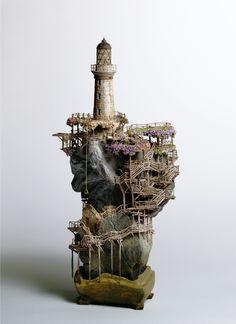 Takanori Aiba: Arquitectura en miniatura – Esculturas bonsai                                                                                                                                                                                 Más