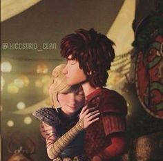 You can tell be Hiccup's face that he is about to say something that Astrid won't like to hear
