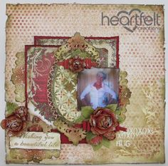 Heartfelt Creations | Beautiful Golden Red Roses Layout