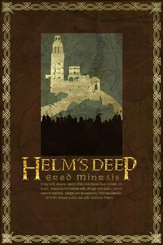 Helm's Deep Travel Poster from The Lord Of the Rings by PasspArt, $20.00