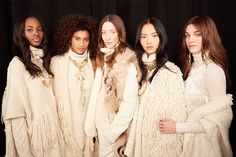 A backstage beauty look from the Ralph Lauren Collection Fall 2015 Runway show