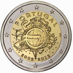 2 Euro Commemorative Coins Portugal 2012, Ten years of Euro cash