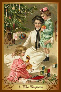 Vintage Postcard inspired tarot card