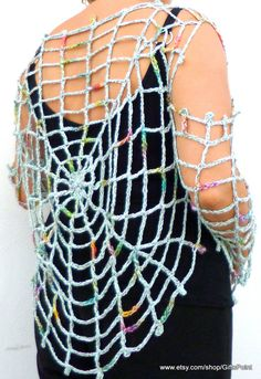 Spider Web Blouse Grunge Hippie Clothing Beach Cover by GiftsPoint, $45.00