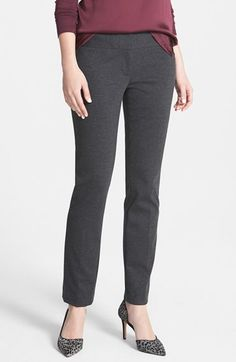 Free shipping and returns on Vince Camuto Ponte Knit Ankle Pants (Regular & Petite) at Nordstrom.com. A nicely weighted ponte knit creates a sleek, stretchy fit for slim pants styled with a clean front and cut to a contemporary ankle length.