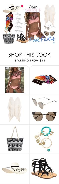 """""""Pool Party"""" by medina-unique ❤ liked on Polyvore featuring WithChic, Missoni, Eberjey, Fendi, Handle, nikki lissoni, Eugenia Kim and Mystique"""