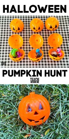 Halloween pumpkin hunt A trick-or-treating alternative for a family Halloween! #halloween #pumpkin #fall #autumn Halloween Class Party, Fun Halloween Crafts, Family Halloween, Halloween Halloween, Holidays Halloween, Halloween Themes, Halloween Pumpkins, Halloween Decorations, Creative Activities For Kids