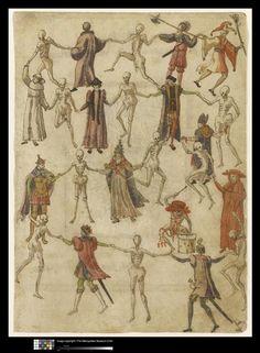 Ecole allemande 16°S Danse macabre Dessins