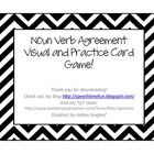 Free! Noun-verb agreement visual & practice card game thanks to speechtimefun tpt!