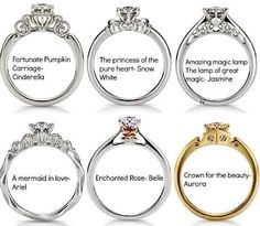Disney princess engagement rings!!!! Omg