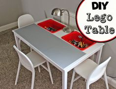 A collection of Lego tables from Ikea using clever hacks to convert affordable Ikea furniture into perfect Ikea Lego storage tables. Check it out!