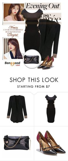 """""""Evening Out (Banggood)"""" by shambala-379 ❤ liked on Polyvore featuring mode en Salvatore Ferragamo"""
