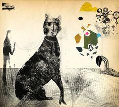 Amazing monoprint + collage from Andrea D'Aquino