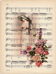 Super vintage paper background book pages sheet music Ideas Decoupage Vintage, Decoupage Paper, Vintage Diy, Vintage Music, Vintage Crafts, Vintage Labels, Vintage Ephemera, Vintage Paper, Vintage Stuff