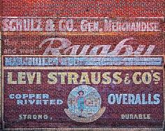 Photograph of a Ghost Sign for Levi Strauss Overalls