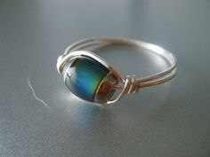 Olivia's mood ring in The Retreat (http://amzn.to/THE-CHARM).  Mood Ring  Wire Wrapped Unique  Made to Order by JbellsGems, $8.50