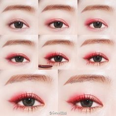 Korean Monolid Eye Makeup 6 Ways Korean Beauty Gurus Use Makeup To Make Their Eyes Look Bigger. Korean Monolid Eye Makeup Have You Known The Types Of Monolids. Korean Monolid Eye Makeup Interior Design 911 Korean Eye Makeup For Monolid… Continue Reading → Korean Makeup Look, Asian Eye Makeup, Makeup Inspo, Makeup Inspiration, Beauty Makeup, Beauty Box, Makeup Tips, Makeup Style, Red Makeup